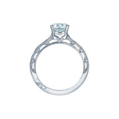 Tacori 2617RD White Gold Round Engagement Ring side