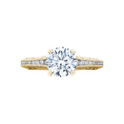Tacori 2617RD65-Y Reverse Crescent Yellow Gold Round Engagement Ring