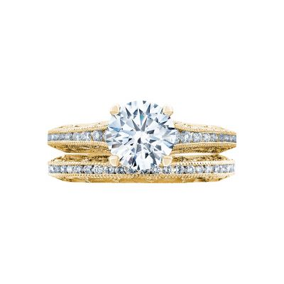 Tacori 2617RD65-Y Yellow Gold Round Simple Engagement Ring set