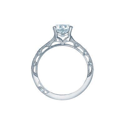 Tacori 2617RD7 Platinum Round Engagement Ring side