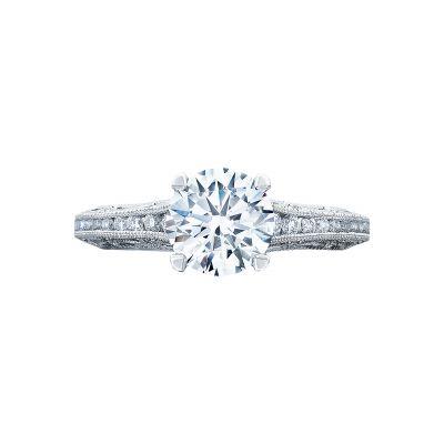 Tacori 2617RD7 Reverse Crescent Platinum Round Engagement Ring