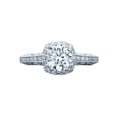 Tacori 2618CU Reverse Crescent White Gold Round Engagement Ring