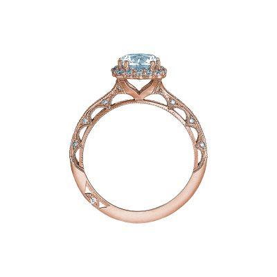 Tacori 2618CU65-PK Rose Gold Round Engagement Ring side