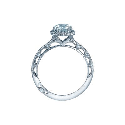 Tacori 2618CU65 Platinum Round Engagement Ring side