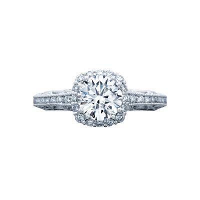 Tacori 2618CU65 Reverse Crescent Platinum Round Engagement Ring