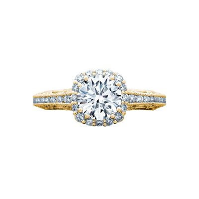 Tacori 2618CU65-Y Reverse Crescent Yellow Gold Round Engagement Ring