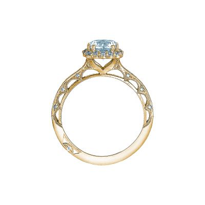 Tacori 2618CU65-Y Yellow Gold Round Engagement Ring side