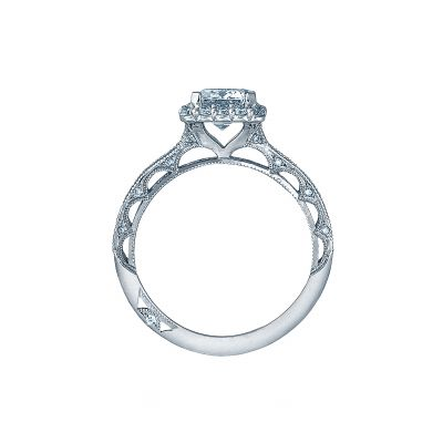 Tacori 2618EC White Gold Emerald Cut Engagement Ring side