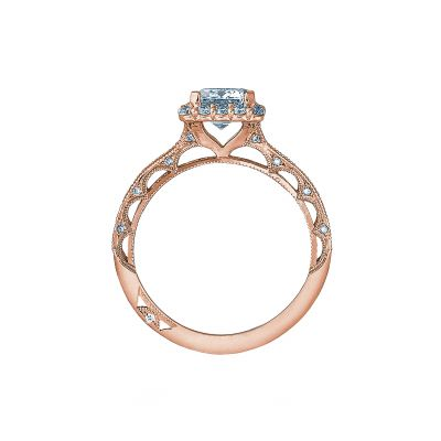 Tacori 2618EC75X55-PK Rose Gold Emerald Cut Engagement Ring side