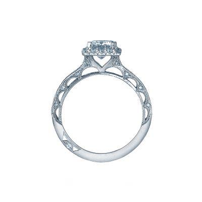Tacori 2618EC75X55 Platinum Emerald Cut Engagement Ring side