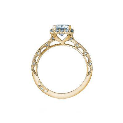 Tacori 2618EC75X55-Y Yellow Gold Emerald Cut Engagement Ring side