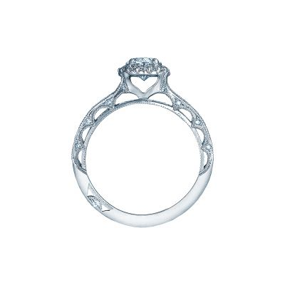 Tacori 2618OV White Gold Oval Engagement Ring side