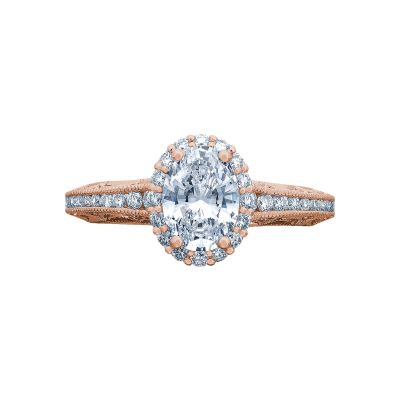 Tacori 2618OV75X55-PK Reverse Crescent Rose Gold Oval Engagement Ring