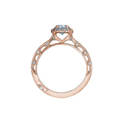 Tacori 2618OV75X55-PK Rose Gold Oval Engagement Ring side