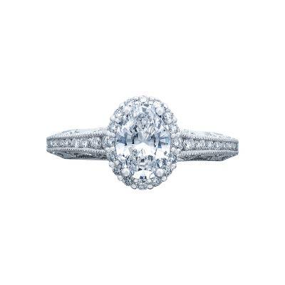 Tacori 2618OV75X55 Reverse Crescent Platinum Oval Engagement Ring