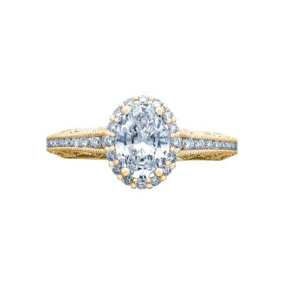 Tacori 2618OV75X55-Y Reverse Crescent Yellow Gold Oval Engagement Ring
