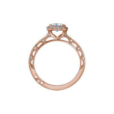 Tacori 2618PR5-PK Rose Gold Princess Cut Engagement Ring side
