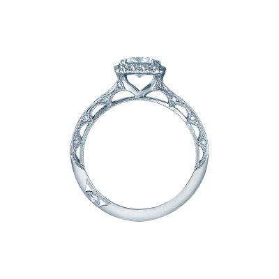 Tacori 2618PR5 Platinum Princess Cut Engagement Ring side