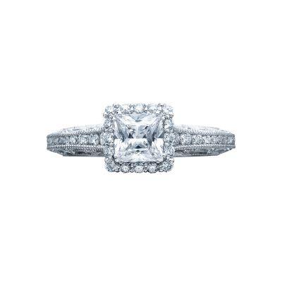 Tacori 2618PR5 Reverse Crescent Platinum Princess Cut Engagement Ring