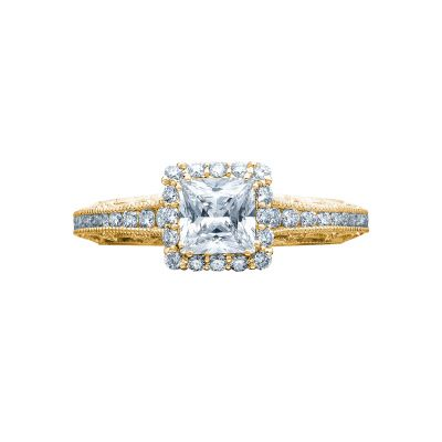 Tacori 2618PR5-Y Reverse Crescent Yellow Gold Princess Cut Engagement Ring