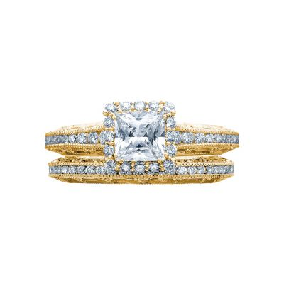 Tacori 2618PR5-Y Yellow Gold Princess Cut Engagement Ring side