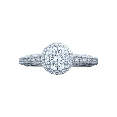 Tacori 2618RD Reverse Crescent White Gold Round Engagement Ring