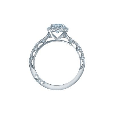 Tacori 2618RD White Gold Round Engagement Ring side