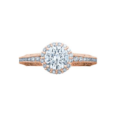 Tacori 2618RD6-PK Reverse Crescent Rose Gold Round Engagement Ring
