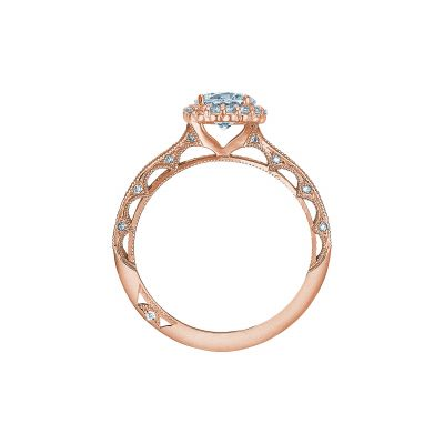 Tacori 2618RD6-PK Rose Gold Round Engagement Ring side