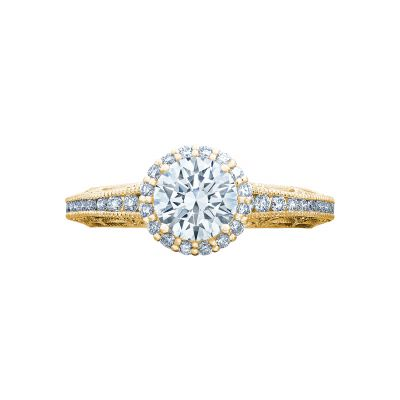 Tacori 2618RD6-Y Reverse Crescent Yellow Gold Round Engagement Ring