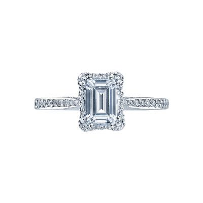 Tacori 2620EC Dantela White Gold Emerald Cut Engagement Ring
