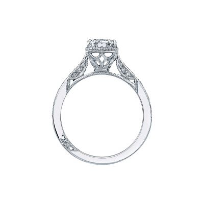 Tacori 2620EC White Gold Emerald Cut Engagement Ring side