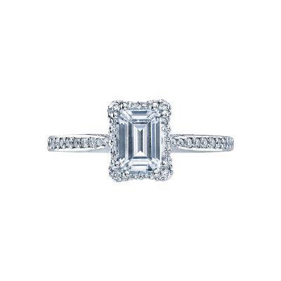 Tacori 2620ECSMP Dantela Platinum Emerald Cut Engagement Ring