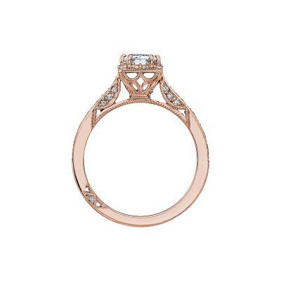Tacori 2620ECSMP-PK Rose Gold Emerald Cut Engagement Ring side