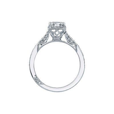 Tacori 2620ECSMP Platinum Emerald Cut Engagement Ring side