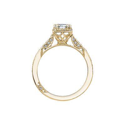 Tacori 2620ECSMP-Y Yellow Gold Emerald Cut Engagement Ring side