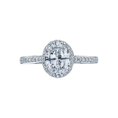 Tacori 2620OV Dantela White Gold Oval Engagement Ring