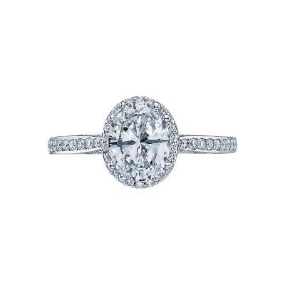 Tacori 2620OVMDP Dantela Platinum Oval Engagement Ring