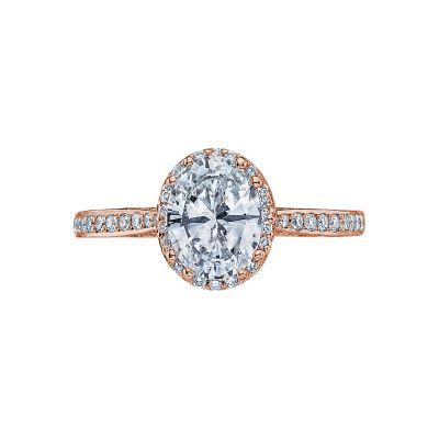 Tacori 2620OVMDP-PK Dantela Rose Gold Oval Engagement Ring