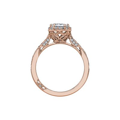 Tacori 2620OVMDP-PK Rose Gold Oval Engagement Ring side
