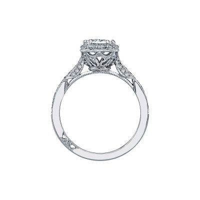 Tacori 2620OVMDP Platinum Oval Engagement Ring side
