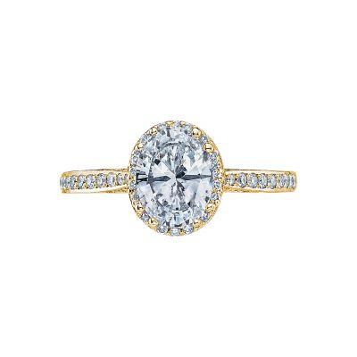 Tacori 2620OVMDP-Y Dantela Yellow Gold Oval Engagement Ring