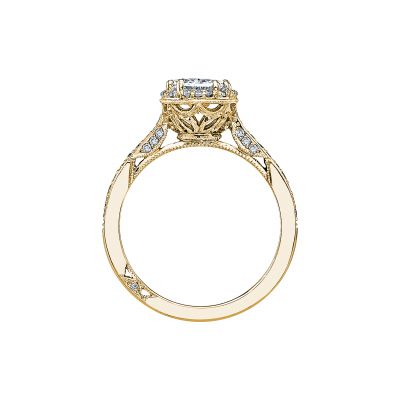 Tacori 2620OVMDP-Y Yellow Gold Oval Engagement Ring side