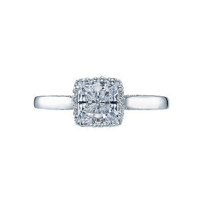 Tacori 2620PR Dantela White Gold Princess Cut Engagement Ring