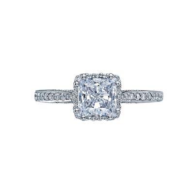 Tacori 2620PR-PTPW Dantela White Gold Princess Cut Engagement Ring