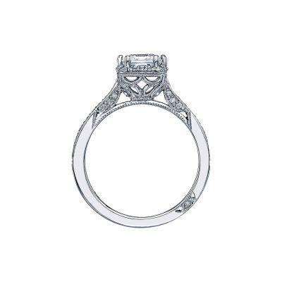 Tacori 2620PR-PTPW White Gold Princess Cut Engagement Ring side