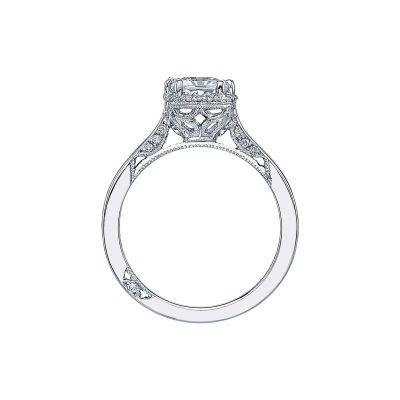Tacori 2620PR White Gold Princess Cut Engagement Ring side