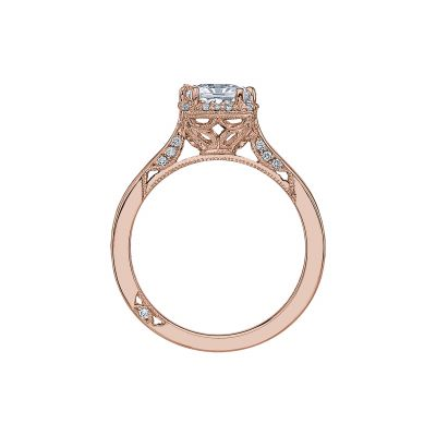 Tacori 2620PRLGPK Rose Gold Princess Cut Engagement Ring side
