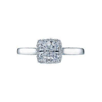 Tacori 2620PRMD Dantela Platinum Princess Cut Engagement Ring