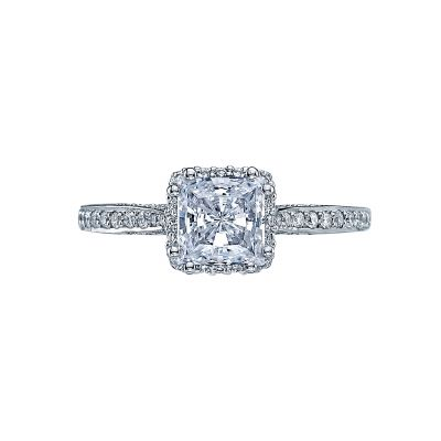Tacori 2620PRMDP Dantela Platinum Princess Cut Engagement Ring